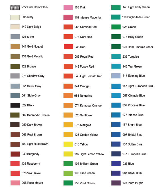 Vinyl Color Chart Dollar Signs And Graphics Lake Tahoe