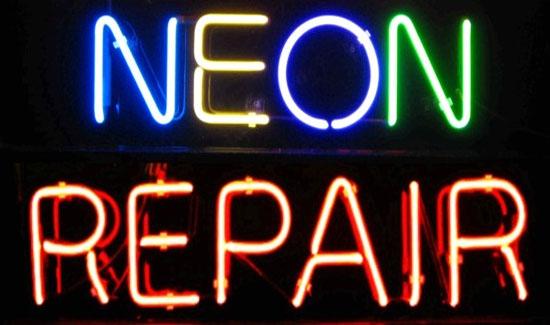 neon lettering